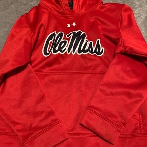 NWOT Boys ole miss under armour pullover S